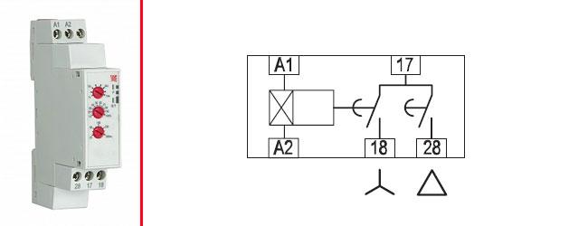 Схема подключения контактора через реле времени